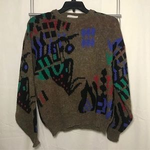 Vintage Abstract Patterned Sweater